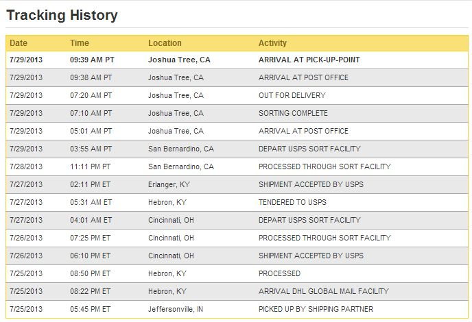 Dhl global mail tracking not updating