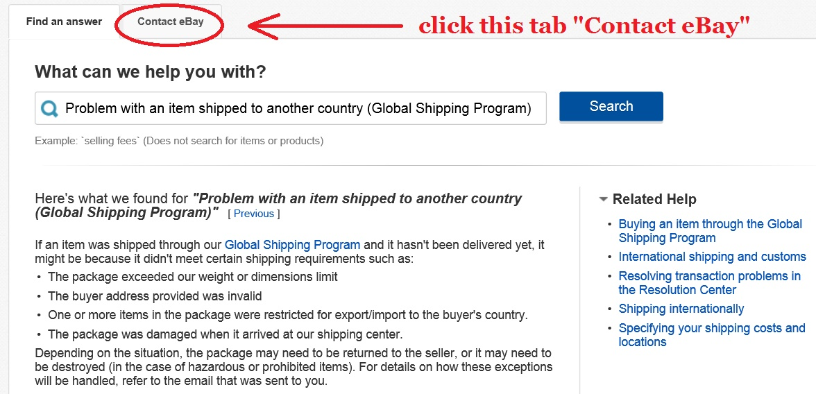 Buyer's Signature Under Global Shipping Program - The eBay
