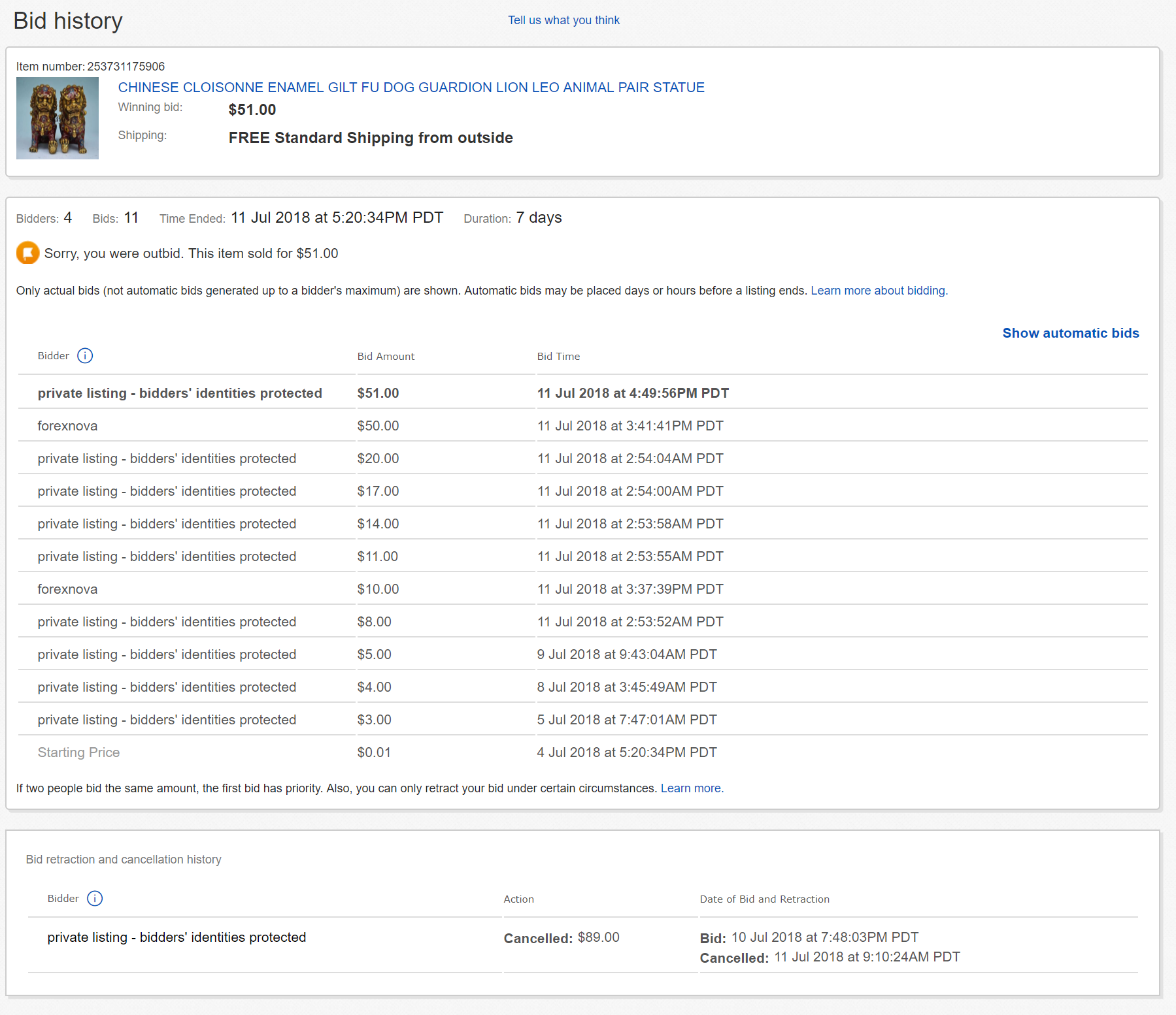 Chinese Sellers Use Fake Bids To Increase Prices The Ebay Community