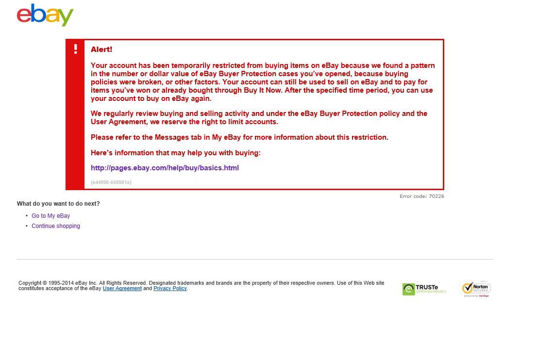 Why I Am Block For Buy Items Here On Ebay The Ebay Community