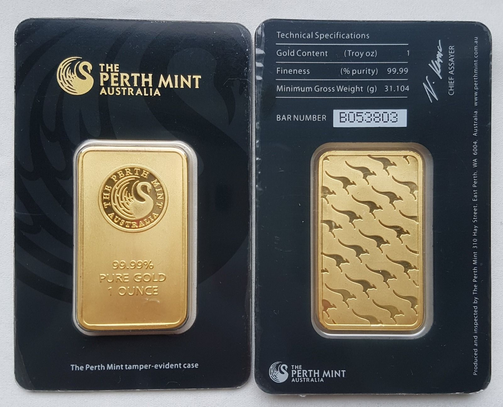 Fake Counterfeit Perth Mint Gold Bars