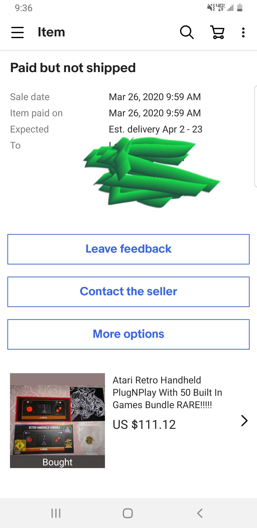 Cannot Contact Seller Something Off About My Purc The Ebay Community