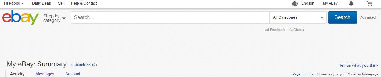 My Ebay Summary
