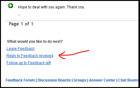 Feedback And Automatic Answer The Ebay Community