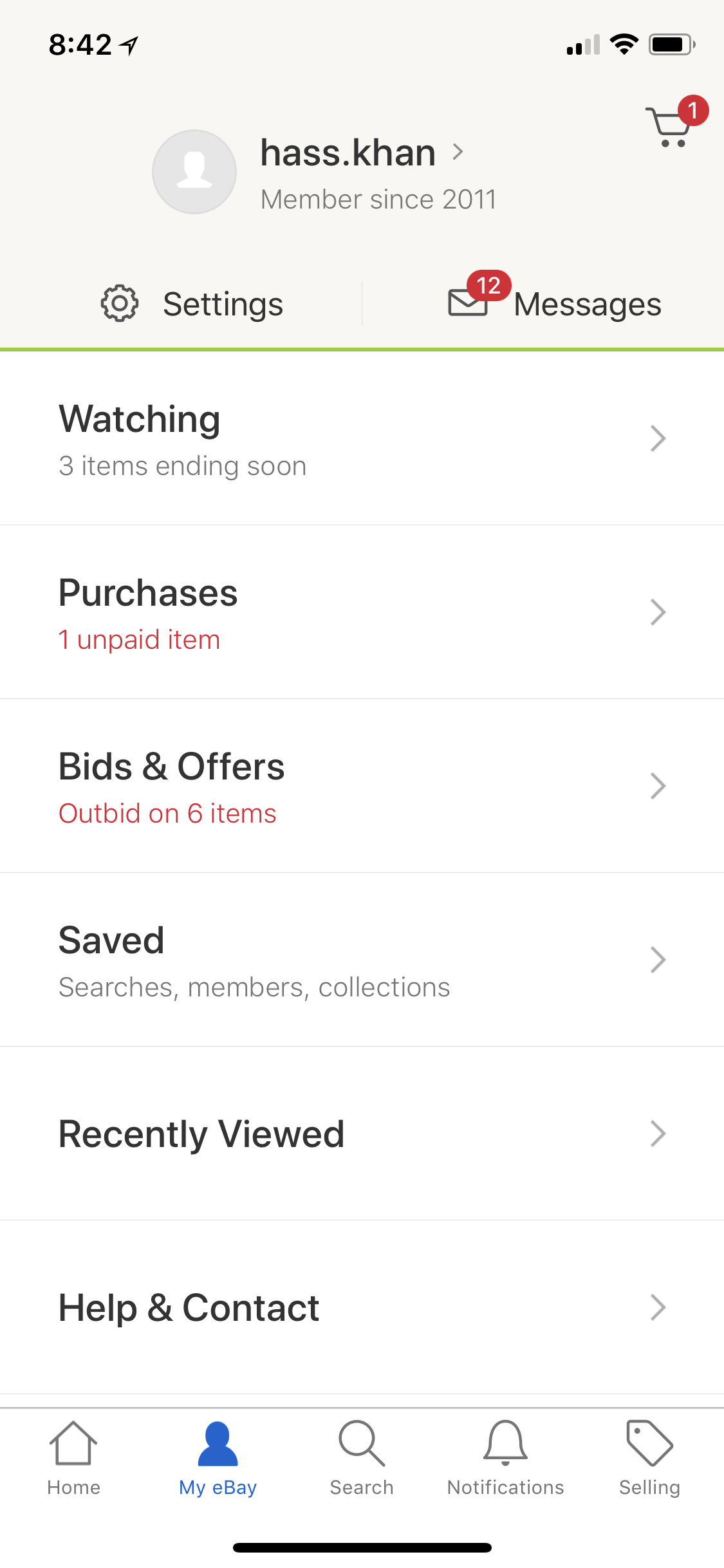 Cannot See My Watching Bidding List On Iphone X The Ebay Community