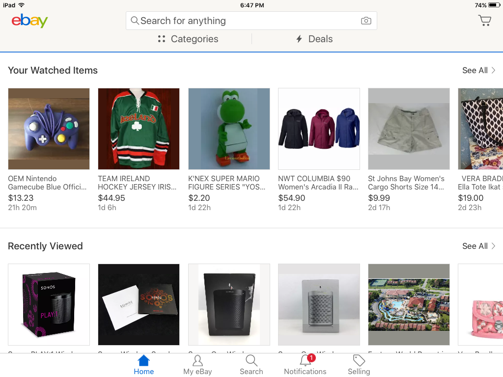 Ipad No Watch List The Ebay Community