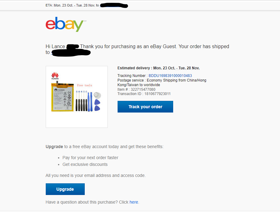 Can T Find Details Of My Guest Purchase The Ebay Community