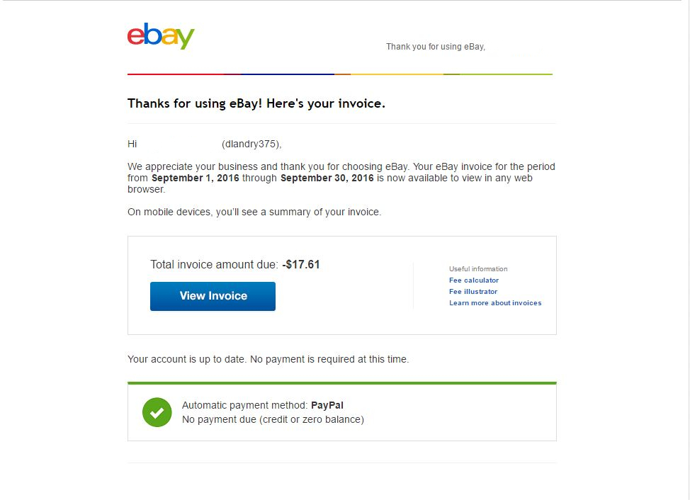Solved EBay Is Charging Me Seller Fees Even Though I Ha The - Ebay invoice payment