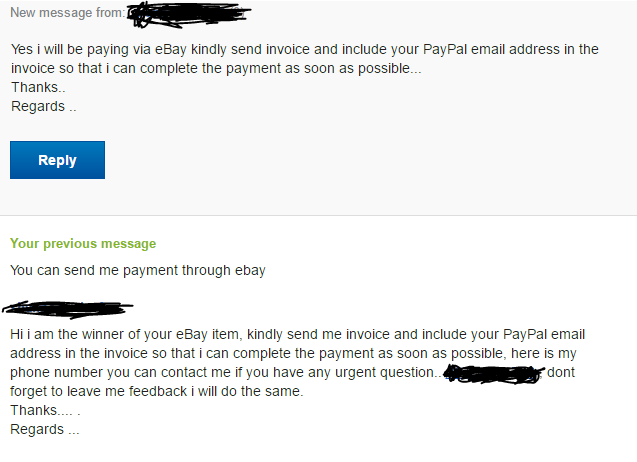 solved buyer just asked me to send an invoice with my pay the