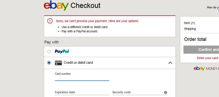 Solved Credit Card Rejected But Money Has Been Deducted The Ebay Community