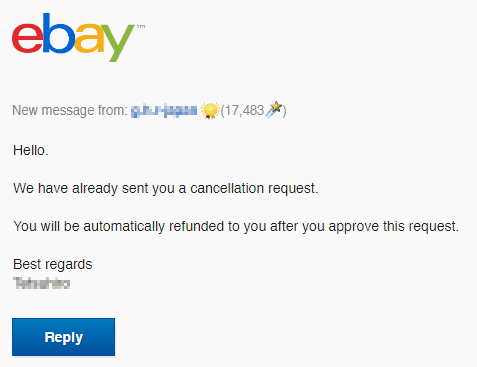 How to respond to cancellation request? - The eBay Community