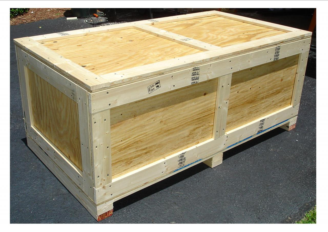 How to build a shipping crate the ebay community for Re storage crate