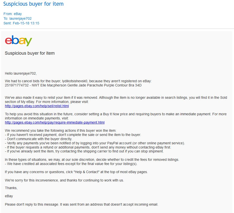 Suspicious Buyer Paypal Now Charging Me The Ebay Community