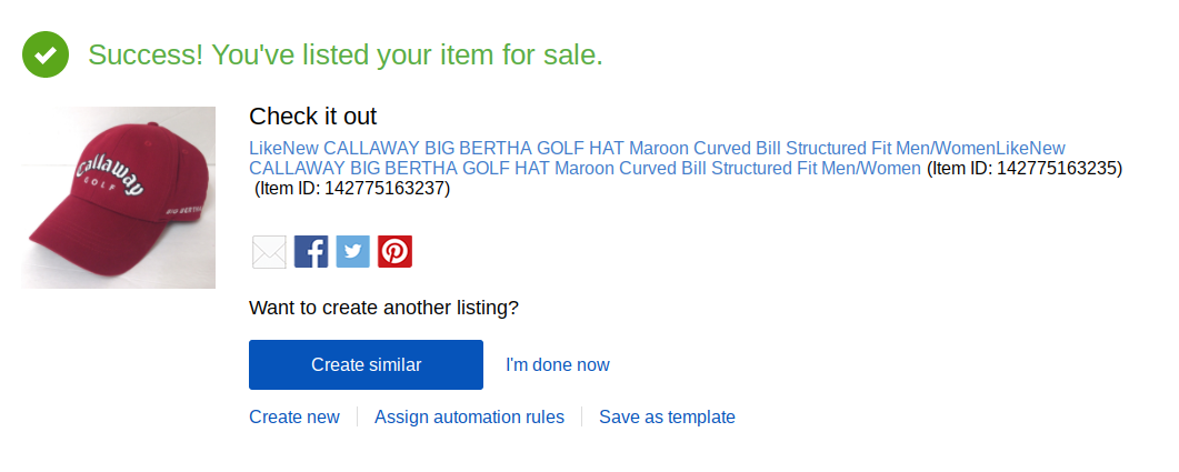 Another Glitch Submitted 1 New Listing Ebay List The Ebay Community