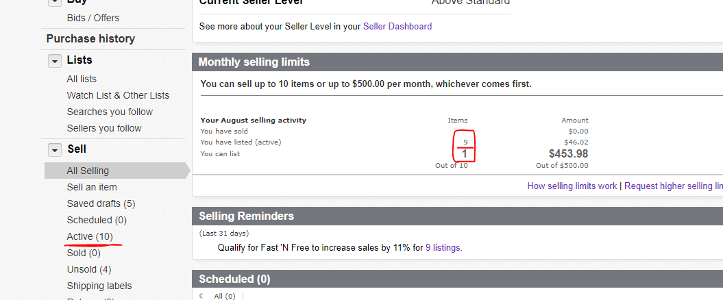 Selling Limits Bug The Ebay Community