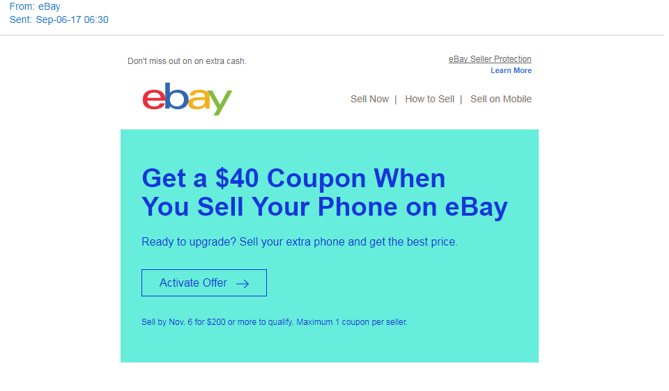 Get Coupon From Selling Offer The Ebay Community