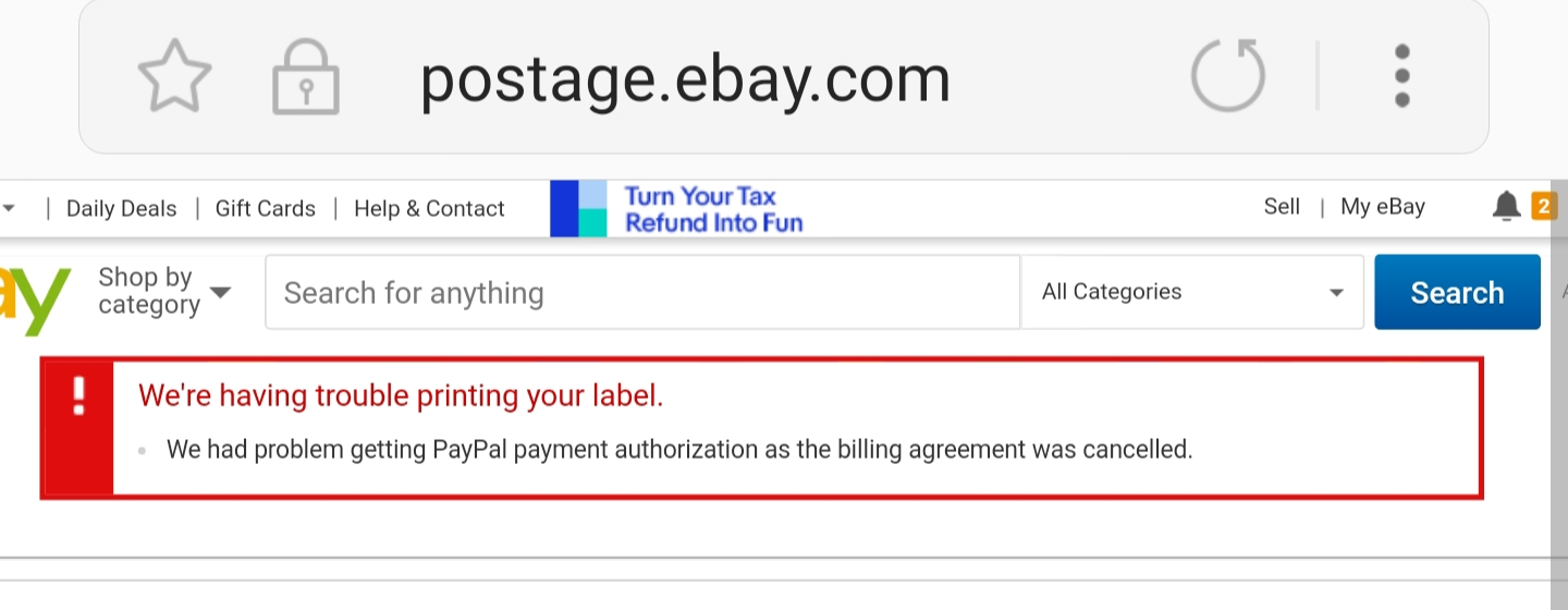Solved: Can't reactivate shipping agreement with paypal