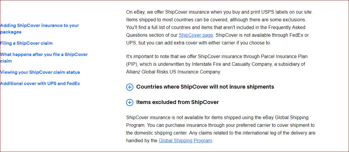 Shipcover Insurance The Ebay Community
