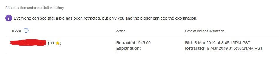 Bid Retraction Reason Explanation Is Not A Mandato The Ebay Community
