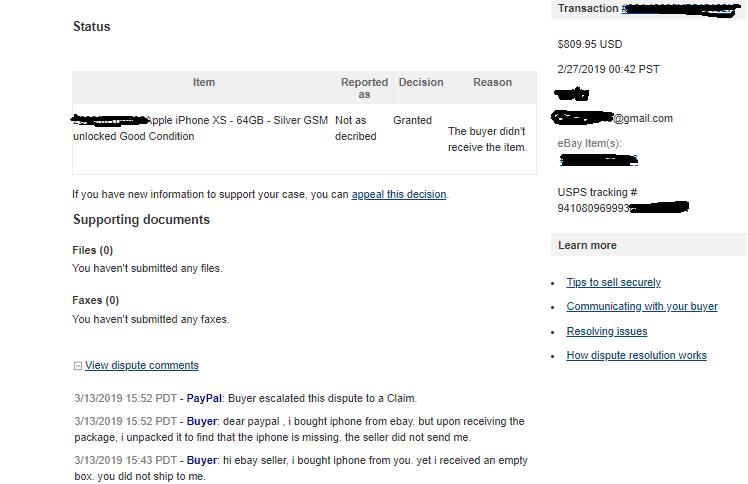 Update Buyer Says I Sent Empty Box For 800 Item The Ebay Community
