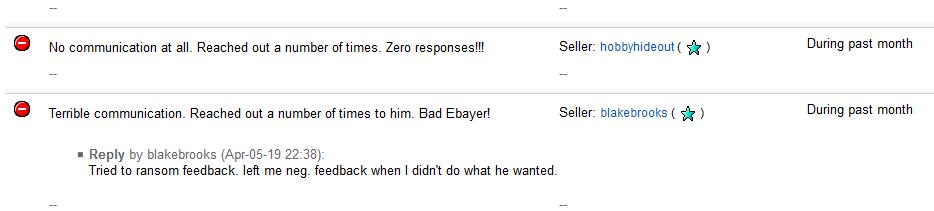 Buyer Threatening Negative Feedback If Demand Not The Ebay Community