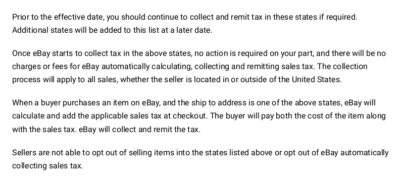 Private Party Sales And Tax The Ebay Community