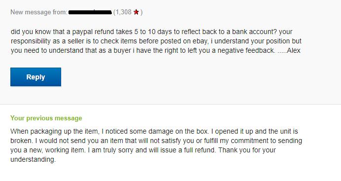 Negative Feedback The Ebay Community