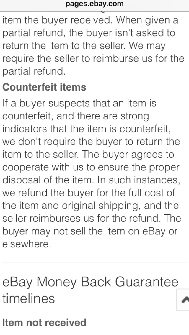 18f0f68c7d Solved  Returning counterfeit items - The eBay Community