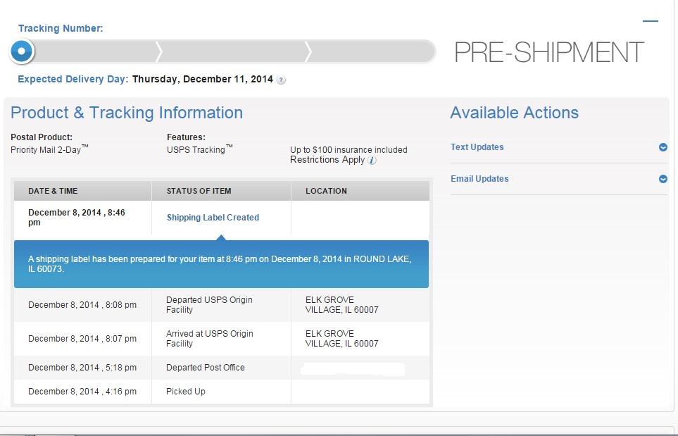 """USPS Tracking Still Says """"Pre-Shipment"""" After Scan ..."""