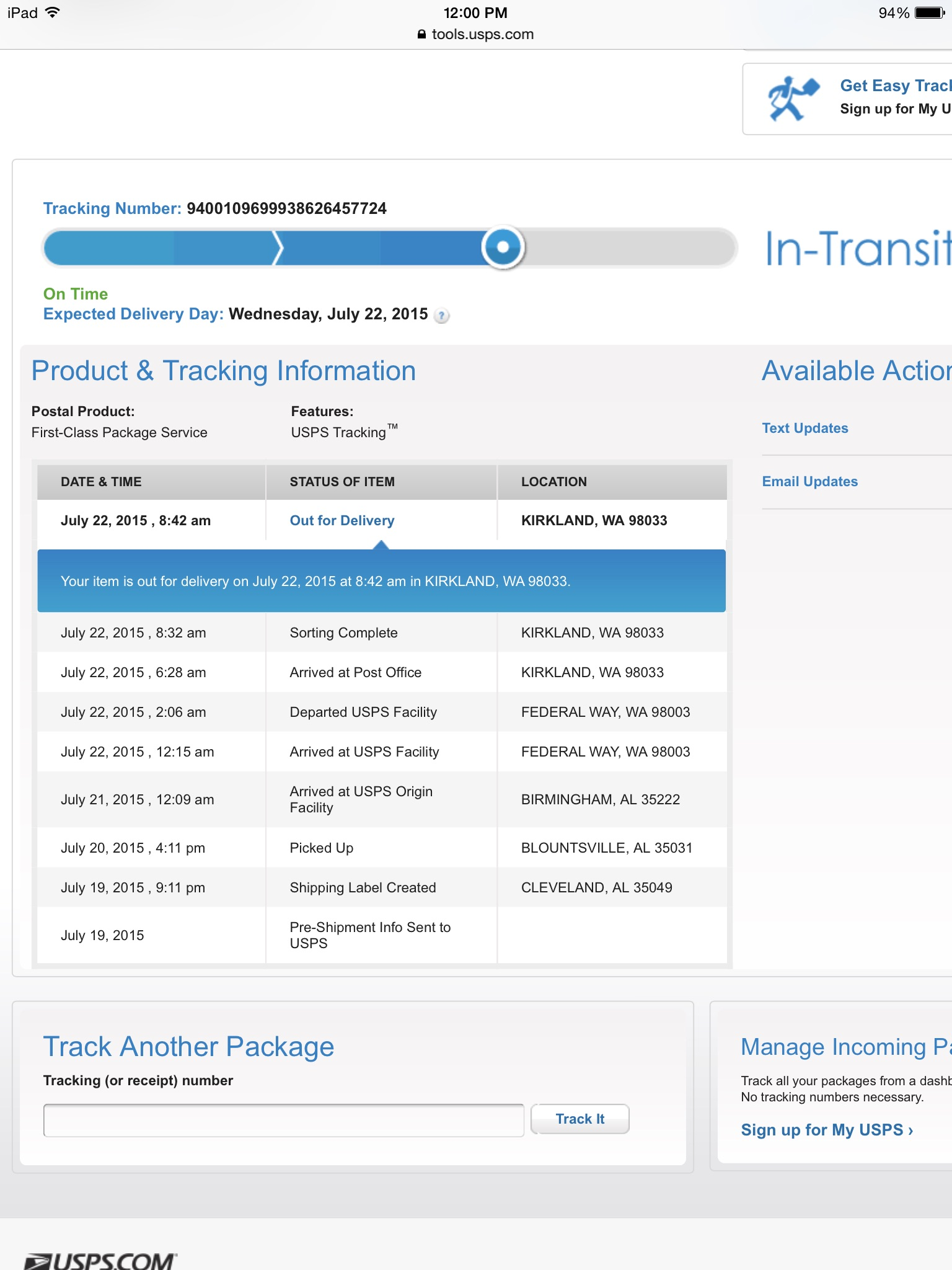 USPS Tracking Not Updating Resolve the Tracking Problem