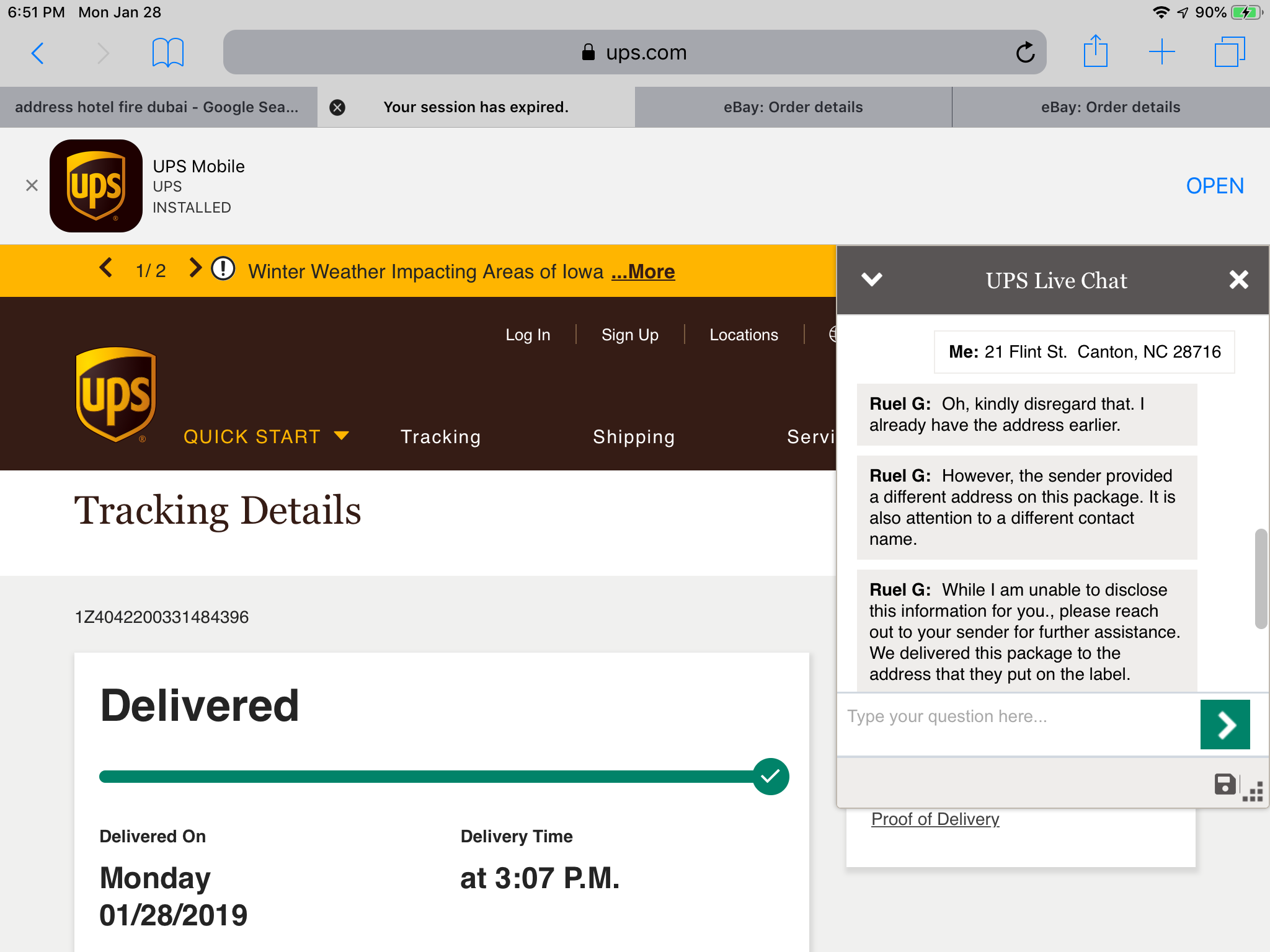 Tracking Ebay