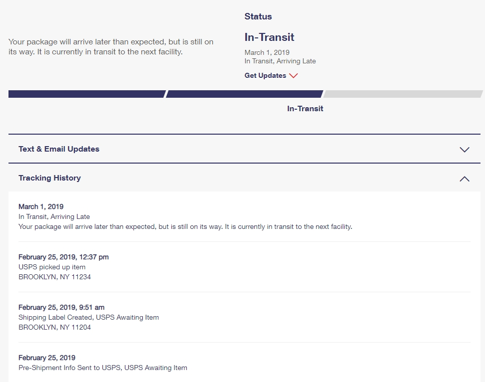 USPS package stuck in transit for a week  - The eBay Community