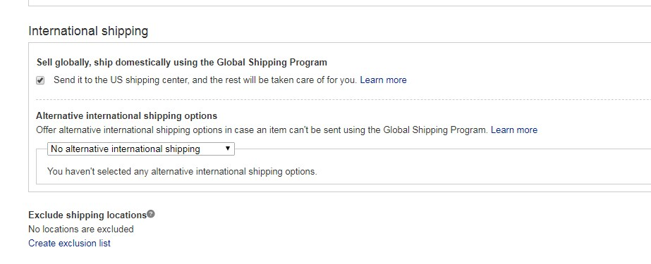 Global Shipping Program Not Showing On All Listing    - The