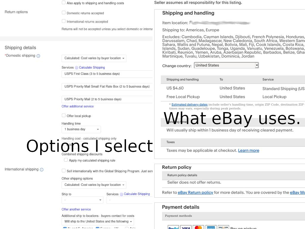 Seller Selected Shipping Options Are Not What Buye The Ebay Community