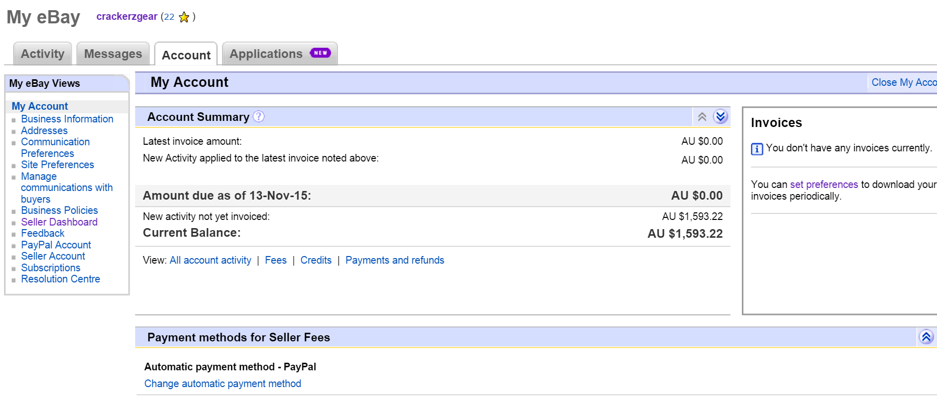 Invoice Fee For 1 593 22 The Ebay Community
