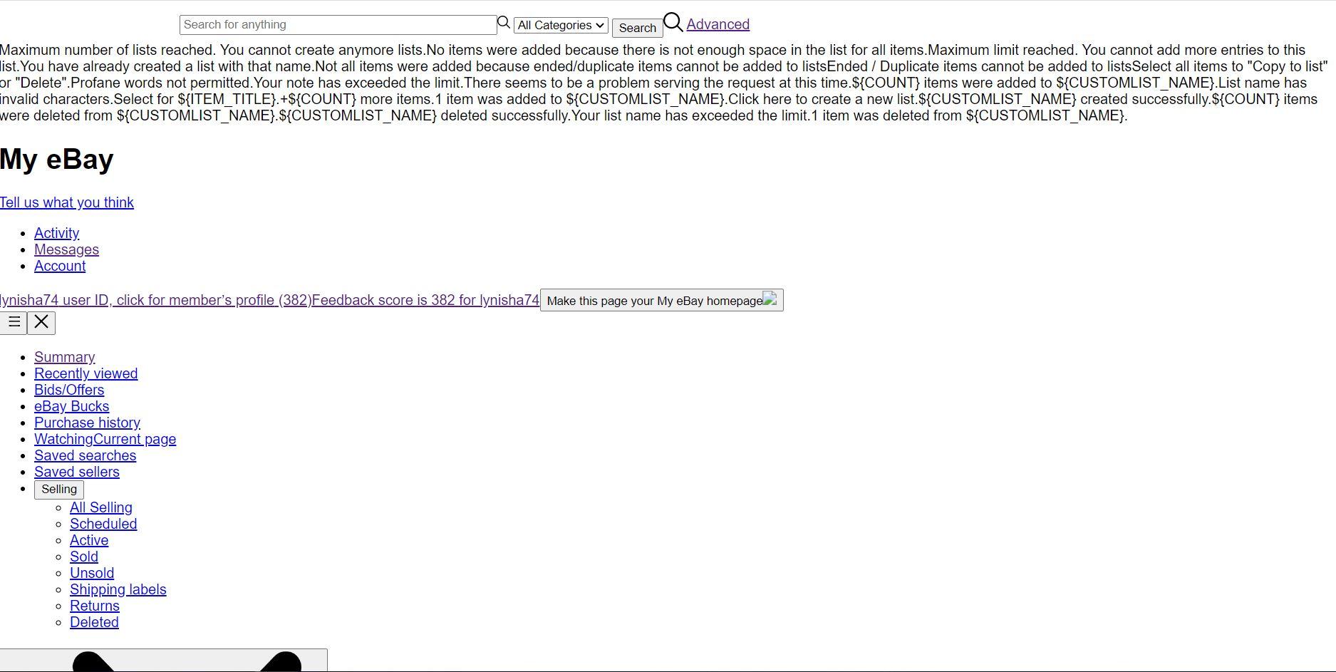 Ebay Pages Not Loading Properly The Ebay Community