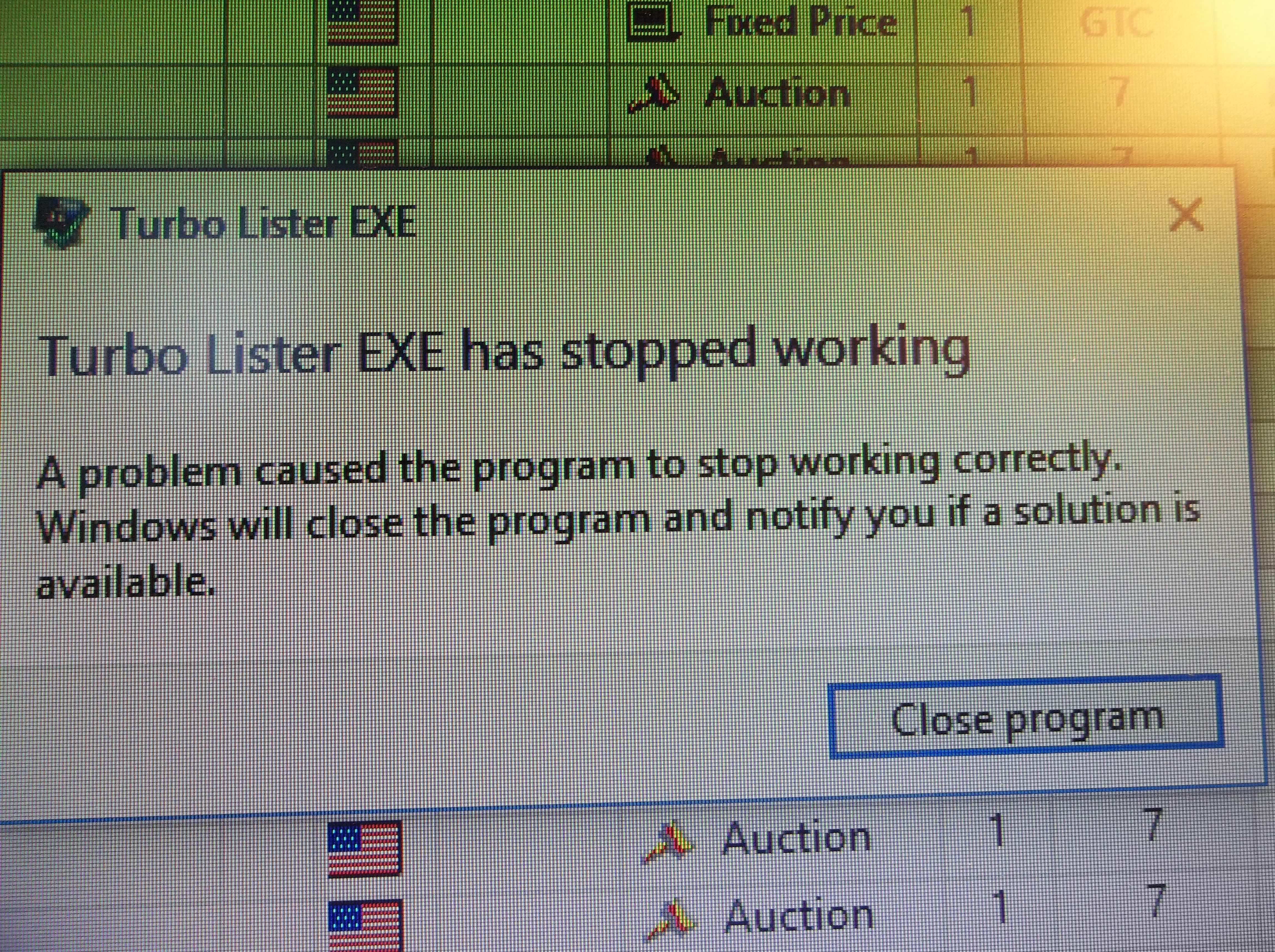 Turbo Lister update failure - Page 2 - The eBay Community