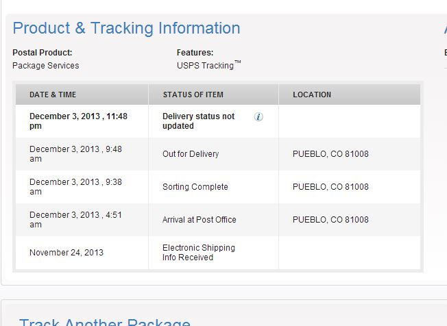Usps electronic shipping info received not updating free sugar mama dating website