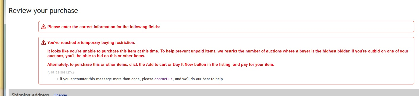 Solved How I Do To Cancel Temporary Buying Restriction The Ebay Community