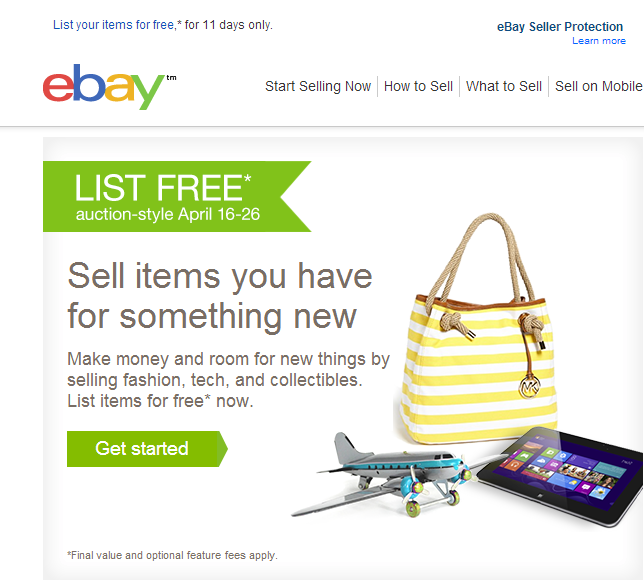 Solved Just Got An Email From Ebay About Free Listing The Ebay Community