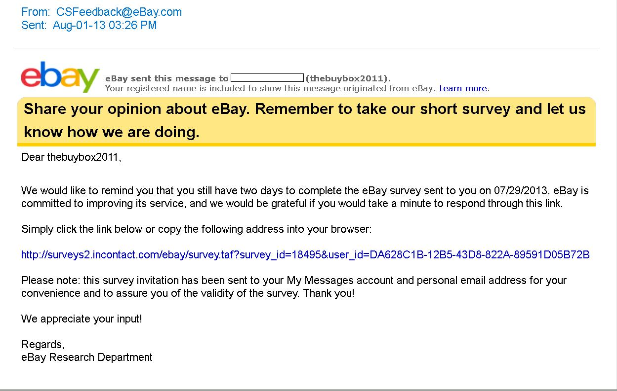 Received Suspicious Email From Ebay After Bidder C The Ebay Community
