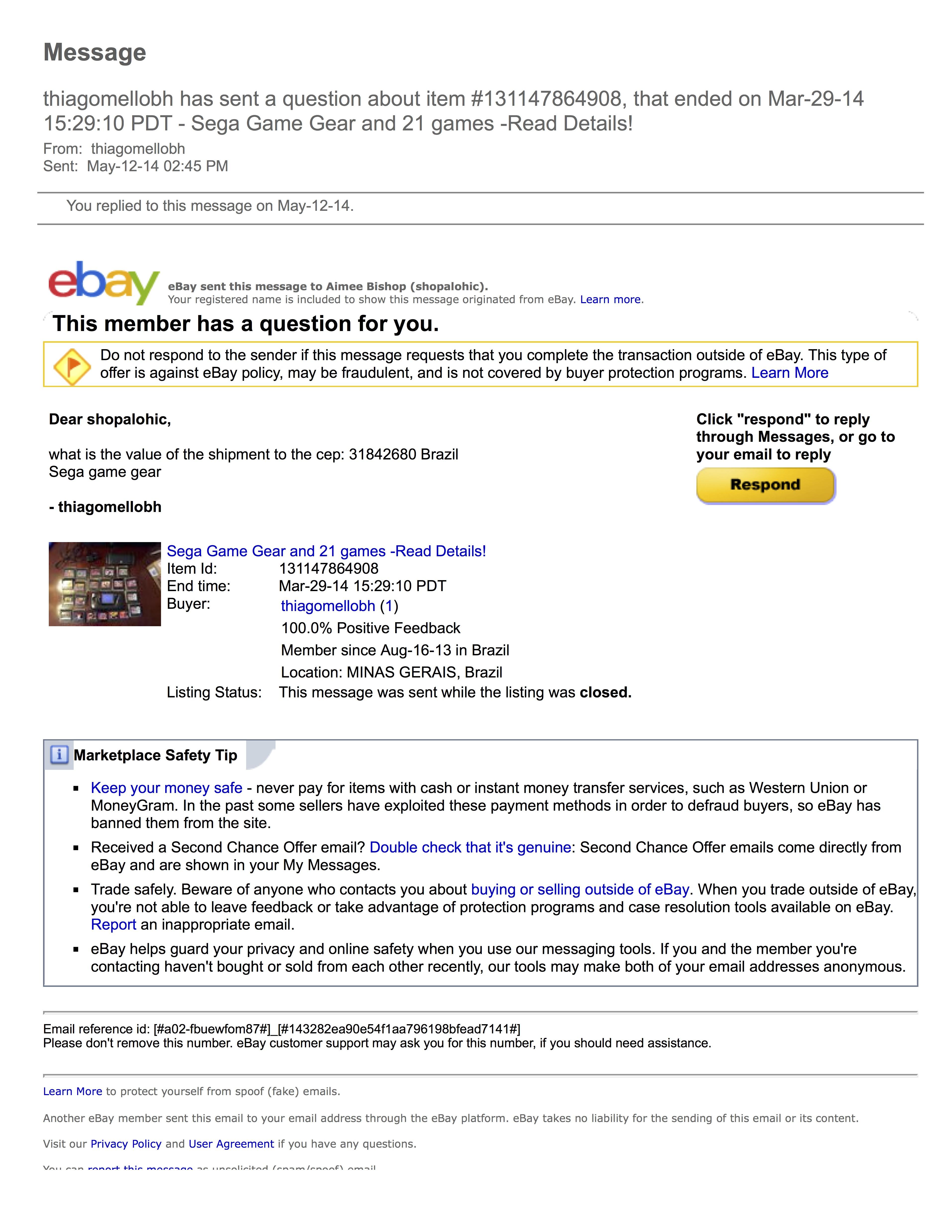E-bay Yahoo on