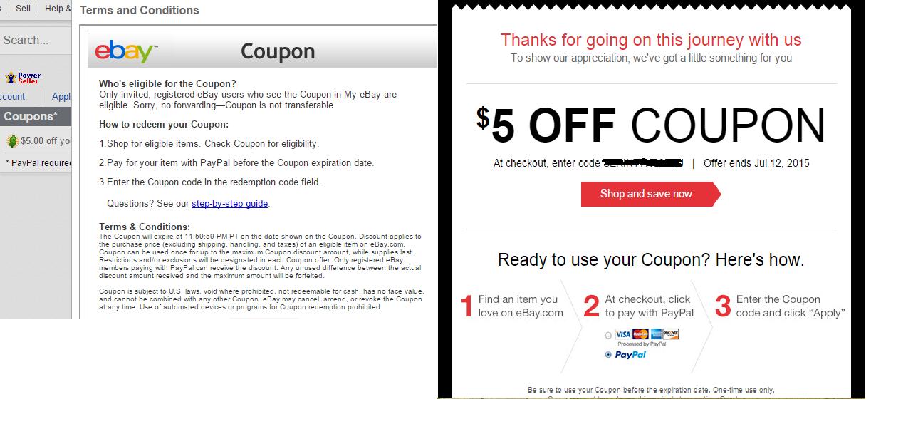 Ebay Coupon Sale