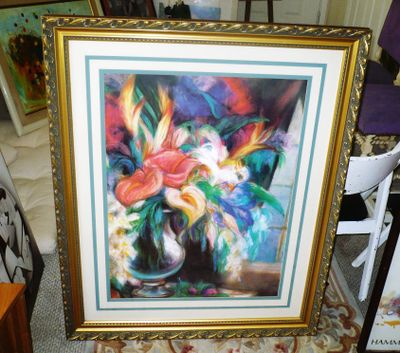 AA ART PAINTING PASTEL FLOWERS LARGE FRAMED ARTWORK 1.jpg