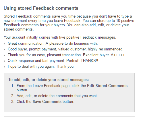 Solved Exactly Worded Feedback For A Buyer From Many Diff The Ebay Community