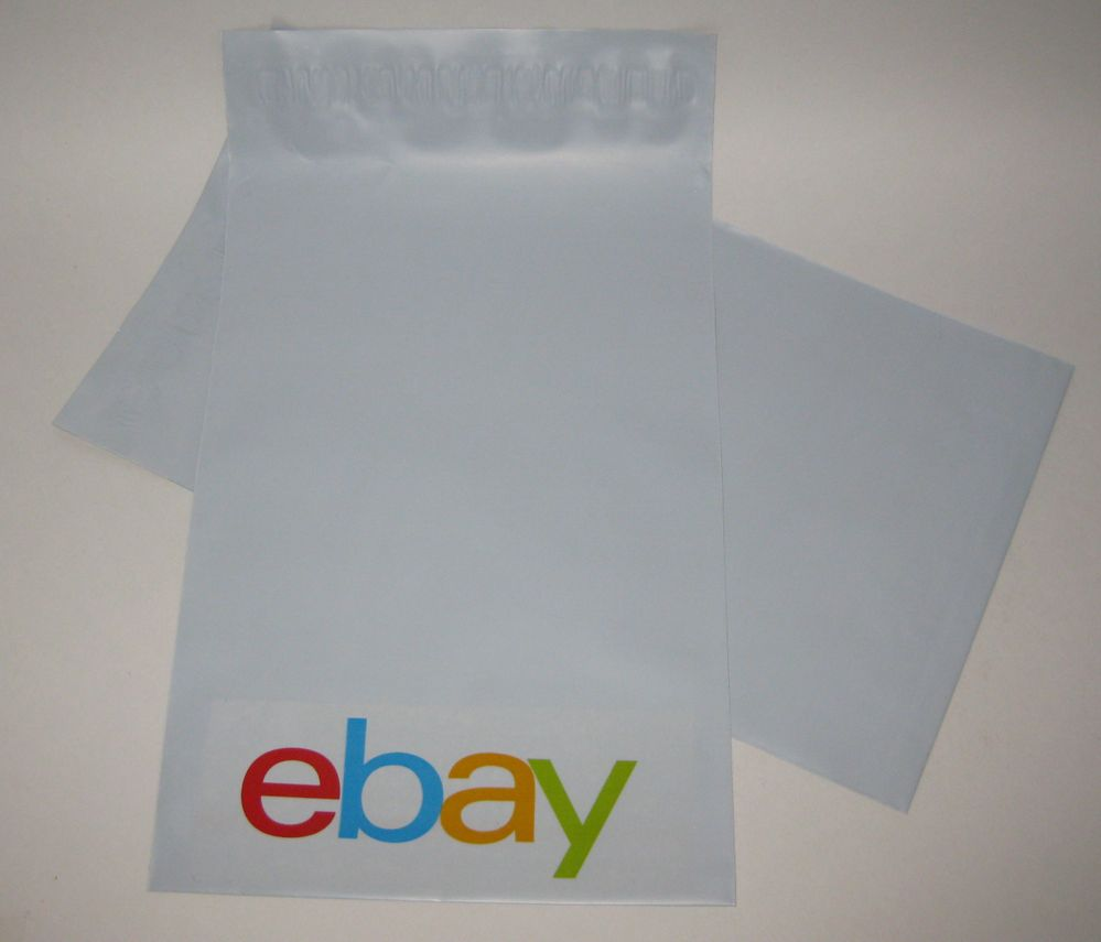 eBay tape on plain Mylar envelopes.