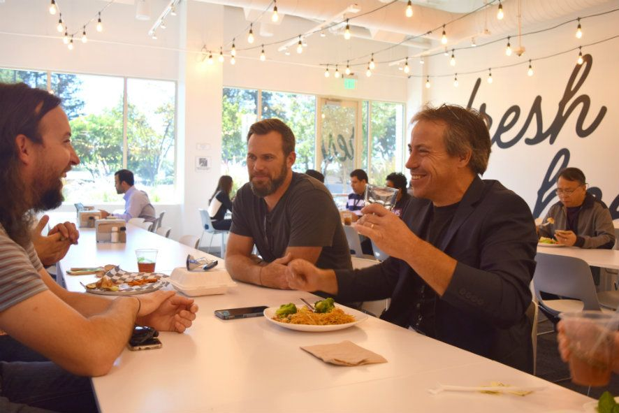Andy enjoying lunch with eBay employees