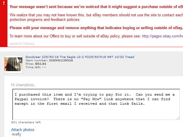 Your Message Wasn T Sent Because We Ve Noticed Tha The Ebay Community