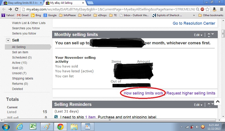 Ebay Selling Limits Bs 5 Items A Month No Than The Ebay Community