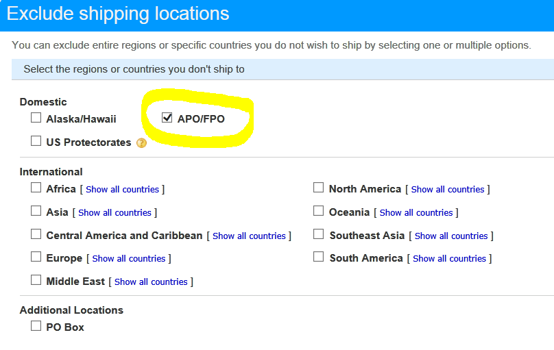 what is an apo address example